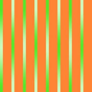 BYF8  - Limey Green Gradient Pinstripes on Orange