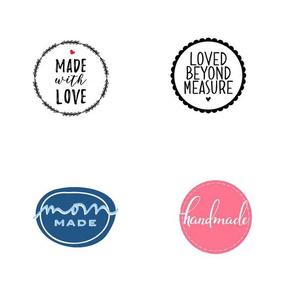 Clothing labels Handmade, Mom Made