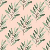 Peach Olive Branch