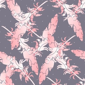 Pink and Gray Feathers