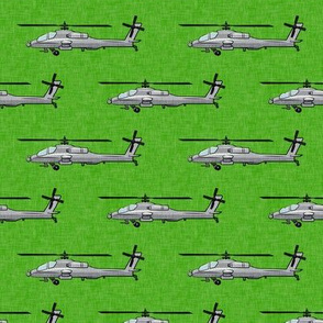 Military helicopter - army vehicles - grey on green - LAD19