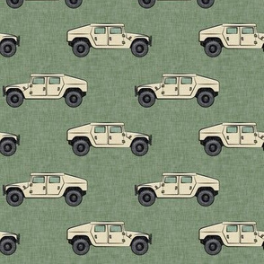 utility vehicles - military vehicles - tan on green - LAD19