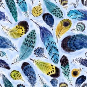 Boho Parrots' Feathers