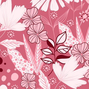 Fancy Florals in Pink