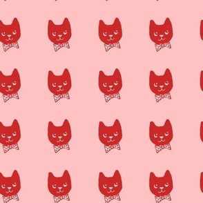 Red cats on pink