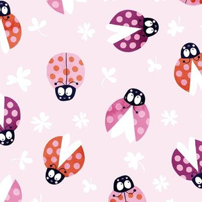 Ladybug dots in pink