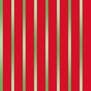 BYF9 - Green Gradient  Pinstripes on Poinsettia Red