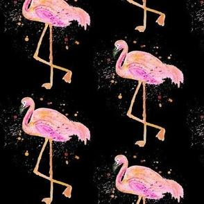 Pink Florida Flamingo Watercolor