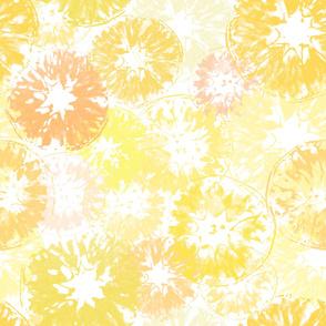 Hello Yellow Lemony Citrus Print