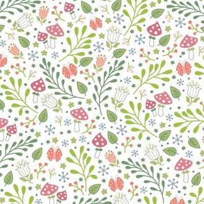 springtime garden white