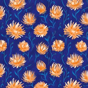 glade of orange flowers