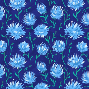 glade of blue flowers