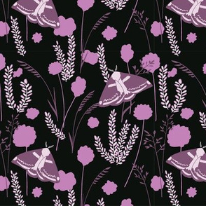 Striking Moorland - Black and Purple