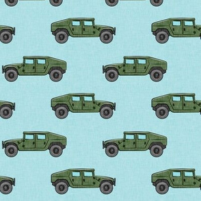utility vehicles - military vehicles - green on blue  - LAD19