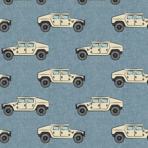 utility vehicles - military vehicles - tan on dusty blue - LAD19