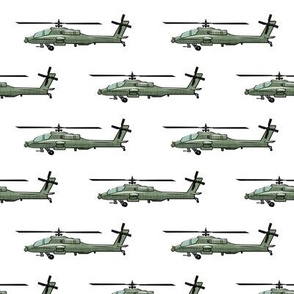 Military helicopter - army vehicles - green - LAD19