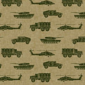 military vehicles - army - green on tan - LAD19