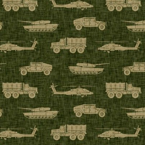 military vehicles - army - tan on green - LAD19