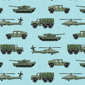 military vehicles 2 - army - green on blue - LAD19