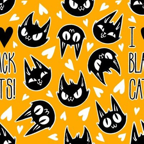 I Love Black Cats - Orange