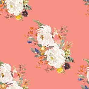 "8"" Sienna Florals - August Peach / 90 degrees"