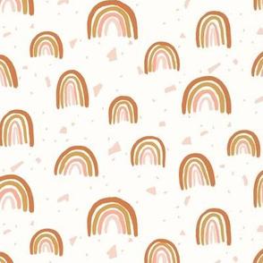 Terrazzo Terracotta Rainbows - Small Scale