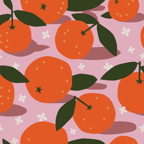Clementine seamless pattern
