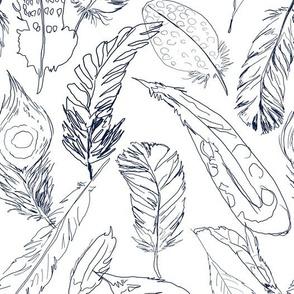 Fancy Feathers // Navy