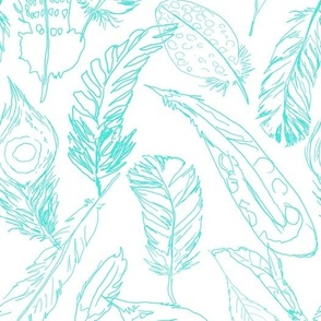 Fancy Feathers // Turquoise