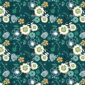 """2"""" Green Floral Design"""