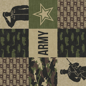 Army - Patchwork fabric - Soldier Military - OG (90) - LAD19