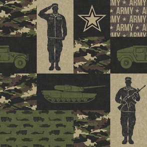 Army - Patchwork fabric - Full Soldier Military - OG  - LAD19