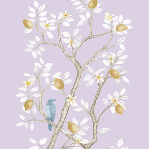 Custom Scaled Lilac Lemon Trees Panel B