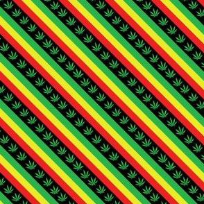 reggae diagonal on black