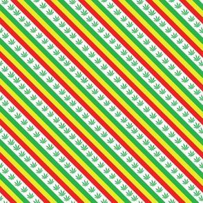 Reggae diagonal on white