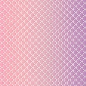 Apricot Plum Ombre Mermaid Pattern