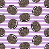 Chocolate Cookies - purple stripes - LAD19