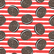 Chocolate Cookies - red stripes - LAD19