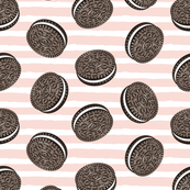 Chocolate Cookies - pink stripes - LAD19