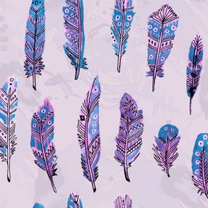 Bohemian Watercolor Feathers