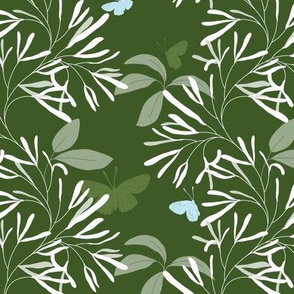 Retusa Fringe hunter green blue
