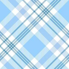 Plaid in pastel blue