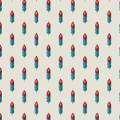 feather motif pattern