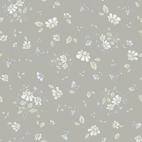 garden floral grey