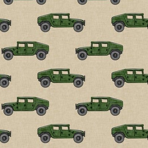 utility vehicles - military vehicles - green on tan - LAD19