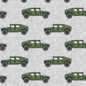 utility vehicles - military vehicles - green on grey - LAD19