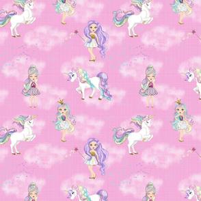 Pastel Unicorns in pink