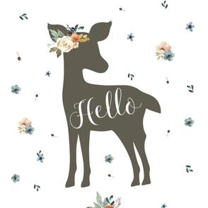 """27""""x36""""  Hello Autumn Deer"""