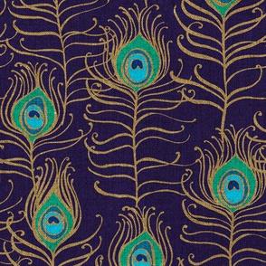 Peacock Feather Nouveau {Sapphire}
