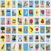 Loteria Card Game Blocks Small Print